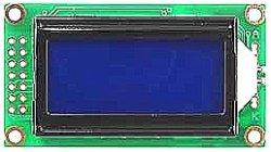 画像1: LCD8文字×2行白色抜き文字表示