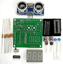 画像1: 超音波距離計 7セグメントタイプ キット